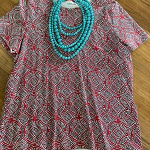 NWOT Plus size tribal Aztec patterned Tee